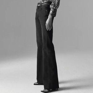 Zara Flare Skinny Black Jeans Size EUR 38 / US 6